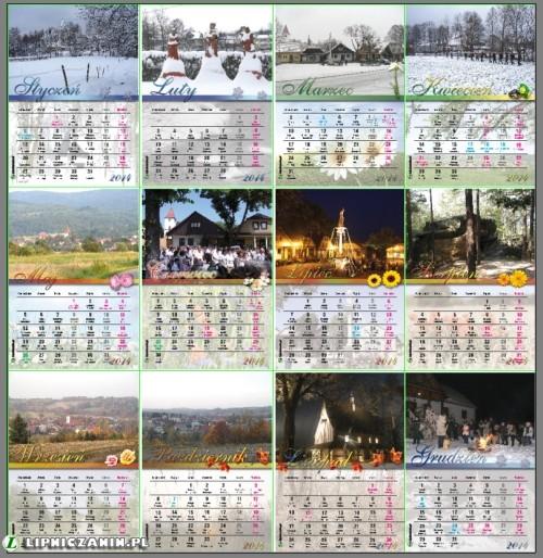 Kalendarz na 2014 rok – pobierz