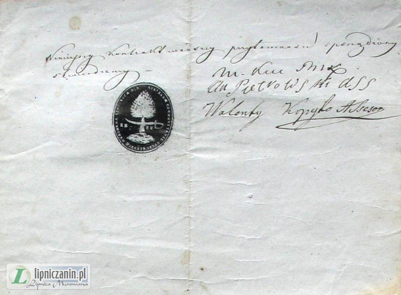 Lipnica Murowana, Historia znana i nieznana – Dokumenty hipoteczne