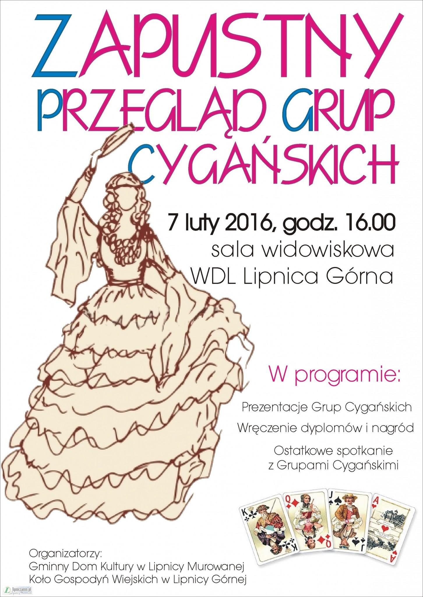 Przegląd grup cygańskich z gminy Lipnica Murowana