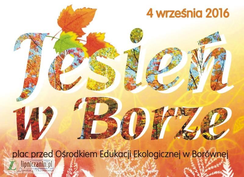 """4 września """"Jesień w Borze"""" impreza plenerowa w Borównej"""